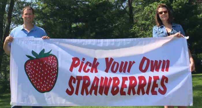 Pick your own strawberries and raspberries!